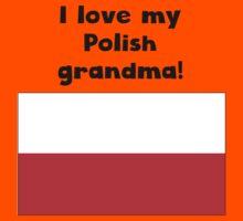 I Love My Polish Grandma Kids Tee