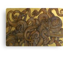 Dueling Octopus (Sucker Punch) Canvas Print