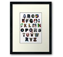 Geek's Alphabet Framed Print