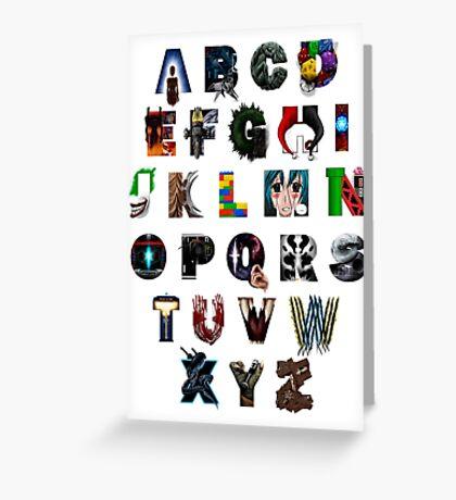 Geek's Alphabet Greeting Card