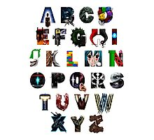 Geek's Alphabet Photographic Print