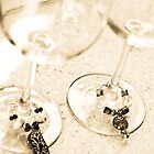 Wine Glasses and Glass Bead Charms by Amber Leigh Summers
