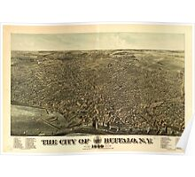 Panoramic Maps The city of Buffalo NY 1880 Poster