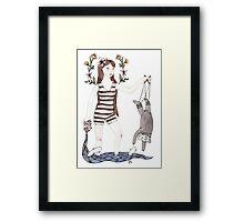 Dangle Bear Framed Print