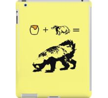 Honey + Badger = Honey Badger iPad Case/Skin