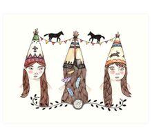 Tipi Party Art Print
