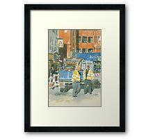 Road works, Old Compton Street, London Framed Print