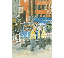 Road works, Old Compton Street, London Photographic Print