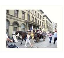 Strolling the streets of Florence (Firenze), Italy Art Print