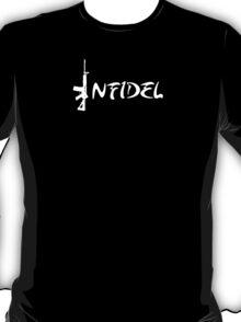 Infidel - White Logo T-Shirt