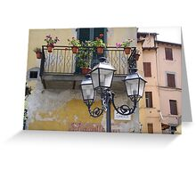 The pictoresque and lively town of Barga Greeting Card