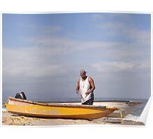 The Fisherman And The Ocean - El Pescador Y El Océano  Poster