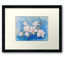 illustration of Iris flower  Framed Print