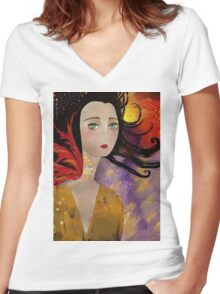 Ennui Hamper Women's Fitted V-Neck T-Shirt
