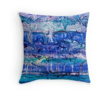 Ebb and Flow - Acrylic and Lenses on canvas Throw Pillow