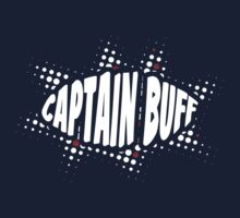 Captain Buff - 80s Halftone Logo by redpumpkinart