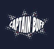 Captain Buff - 80s Halftone Logo by redpumpkinart