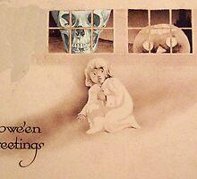 Wrong Shoulder... (Vintage Halloween Card) by Welte Arts & Trumpery