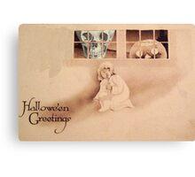 Wrong Shoulder... (Vintage Halloween Card) Canvas Print