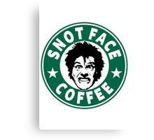 Snot Face Coffee Canvas Print