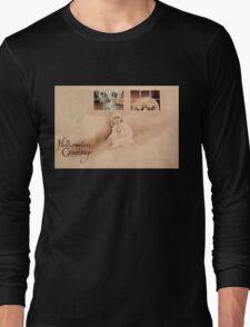 Wrong Shoulder... (Vintage Halloween Card) Long Sleeve T-Shirt