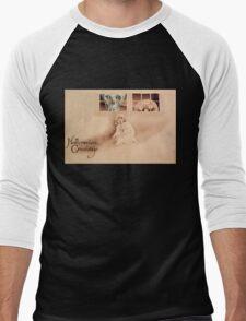 Wrong Shoulder... (Vintage Halloween Card) Men's Baseball ¾ T-Shirt