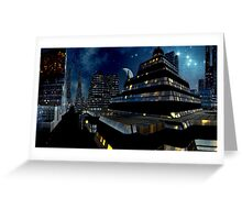 Reflections of Night - Metropolis Moon Greeting Card
