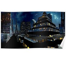 Reflections of Night - Metropolis Moon Poster