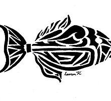 Trigger Fish Tribal Design by KitayamaDesigns