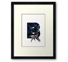 Geek letter B Framed Print