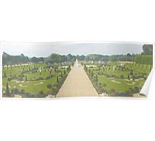 Hampton Court Gardens Photo/Watercolour Poster