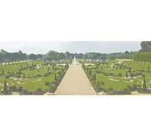 Hampton Court Gardens Photo/Watercolour Photographic Print