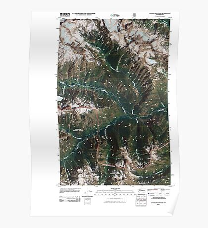 USGS Topo Map Washington State WA Goode Mountain 20110427 TM Poster