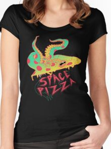 Space Pizza Women's Fitted Scoop T-Shirt