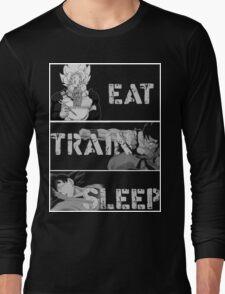 Goku eat,train and sleep T-Shirts Long Sleeve T-Shirt