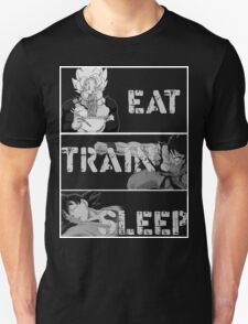 Goku eat,train and sleep T-Shirts T-Shirt