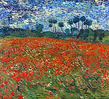 Vincent Van Gogh - Field of Poppies by lifetree