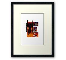 Geek letter E Framed Print