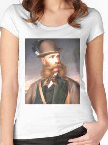 ThaT fabulous Beard (Photo restore) Women's Fitted Scoop T-Shirt