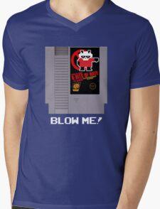 Pissed OFF Panda 8-bits of HATE Video Game Mens V-Neck T-Shirt