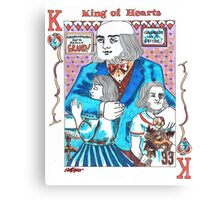 Modern King of Hearts Canvas Print