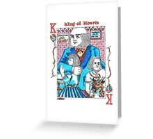 Modern King of Hearts Greeting Card
