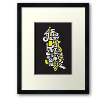 Learn Your ABC Framed Print