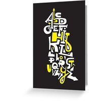 Learn Your ABC Greeting Card
