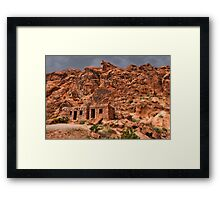 Ƹ̴Ӂ̴Ʒ ROCK CABINS AT VALLEY OF FIRE STATE PARK NEAR LAS VEGAS NEVADA Ƹ̴Ӂ̴Ʒ Framed Print