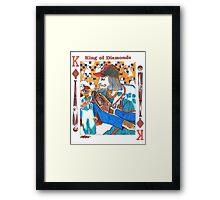 Modern King of Diamonds Framed Print
