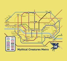Epic Mythical Creatures Underground Map Kids Clothes