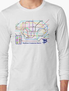 Epic Mythical Creatures Underground Map Long Sleeve T-Shirt