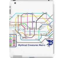 Epic Mythical Creatures Underground Map iPad Case/Skin