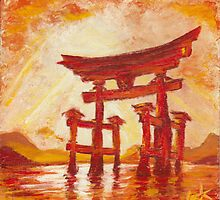 Itsukushima Shrine Gate, Radiance by Lester Ancheta